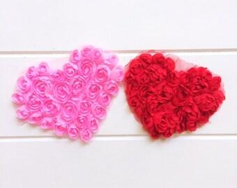 Chiffon Rose Heart DIY Craft