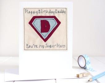 Superhero Birthday Card - Personalised Birthday Card For Him - Superdad Fathers Day Card - Superhero Card - Superdad Card - Card For Dad