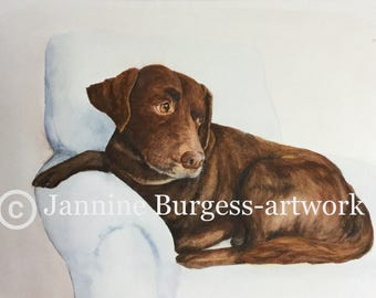 Pet Portrait Painting or mixed media