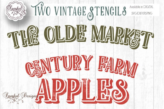 Vintage Farmhouse Decor Sign Stencil Quotes Digital Cutting