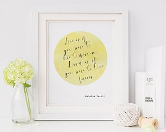 Gandhi quote print - Gandhi - literary gifts - gifts for book lovers - literary quotes - literary print - literary art - inspirational quote