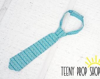 Baby Neck Tie, Blue Pattern Neck Tie, Baby Boy Clothing, Baby Boy Cake Smash, Blue Neck Tie, Child Tie, Baby Tie, Prop, Child Tie