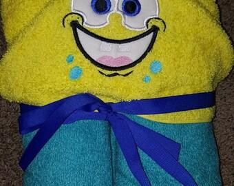 Sponge Hooded Towel, Sponge Square Hooded Towel