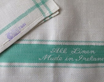 Vintage 1940's WW2 Unused Irish Linen Tea Towel- CC41 Label