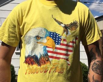Vintage eagle forever free shirt