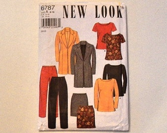 Vintage New Look Sewing Pattern 6787 Size A 6-16 Suit Outfit