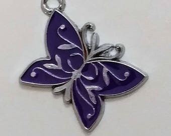 Purple Butterfly Charm