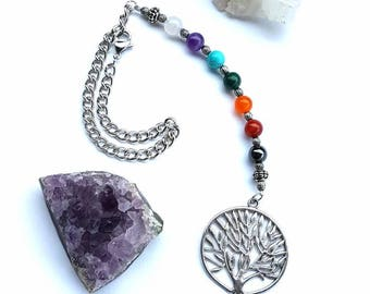 Tree of Life Chakra Rear View Mirror Charm Car Charm