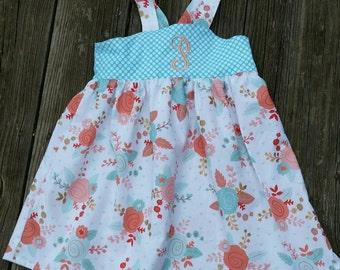 Girls knot dress, Toddler knot dress, summer dress, spring dress, summer knot dress, sun dress, boutique dress