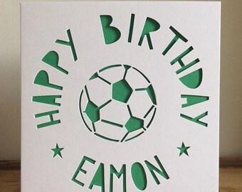 Football Fan Card, Personalised Football Card, Footy Fan Card,    Personalised Football Fan Card, Personalised Footy Fan Card, Football Card
