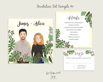 Invitation Set / Save the Date / Custom Wedding Invitation