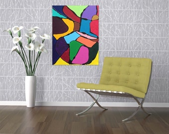 Colorful Wall Art - Abstract Painting  - Canvas Painting - Acrylic Painting - Colorful Art - Abstract Art -Textured Painting - Original Art