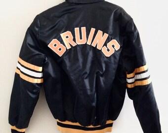 Boston Bruins Shain Of Canada Vintage Bomber Jacket