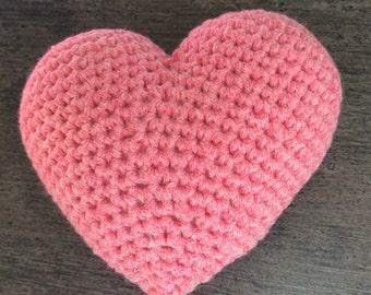 Pink heart crochet