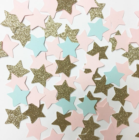 Gender reveal star confeti//confetti, party decorations, party deco, party supplies, star confetti, baby shower, gender reveal, gold star