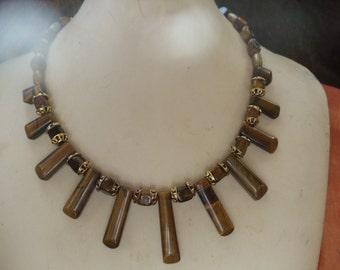 Tiger eye 3-piece jewelry set statement jewelry