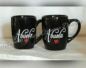 Abuela and Abuelo Mugs, Oma and Opa Mug Set, Nana and Papa Mug Set, New Grandparents Gift, Pregnancy Reveal, Pregnancy Announcement, Gift