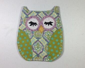 OWL Pot Holder Hot Pad Hostess Gift Kitchen Handmade Ready to Ship, Sorority Owl, Thank You Gift, Housewarming Gift, Teacher Gift