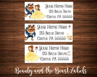 Beauty and the Beast Address Labels, Mailing Labels