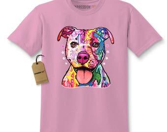 American Pitbull Graffiti Kids T-shirt