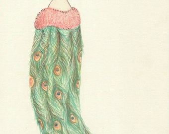 Madame Peacock Art Print