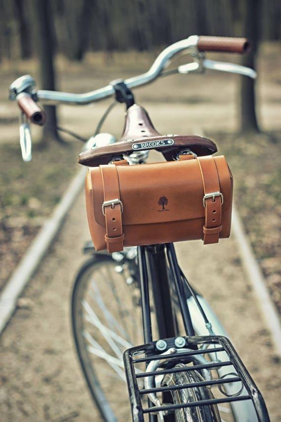 Bicycle Tool Bag : Small leather bicycle tool bag