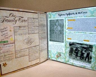 FAMILY TREE SCRAPBOOK, Family Genealogy, Detailed
