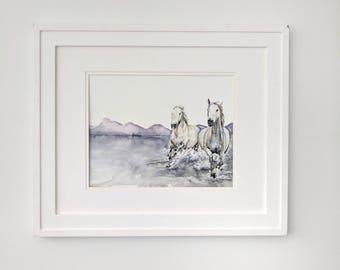 Horses Running - Original
