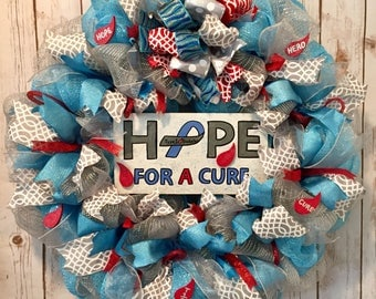 Juvenile diabetes, Type 1 diabetes, Juvenile diabetes wreath,  Type 1 diabetes support, Juvenile diabetes support, Diabetes wreath, hope