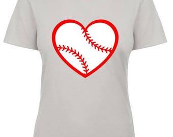 Baseball/Softball Heart T-shirt