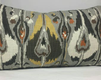 Robert Allen  ikat lumbar Cushion Cover. Multiple sizes available.