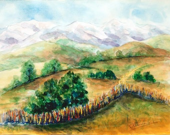 Original watercolor painting Landscape painting Original 11 x 14 painting watercolor landscape painting watercolor nature art artwork