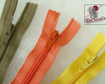 8 or 25 Zippers YKK, SURPRISE, varied color, varied size, 12 cm - 65 cm, no 3, nylon, perfect for wallets, clothing, repair,