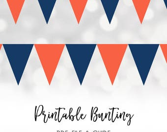 digital flags, digital bunting, flag buntings, digital download, banner flags, red and navy flags, instant downloads