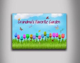 Grandma's Favorite Garden customized home wall decor