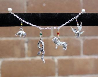 Harry Potter Hogwarts Houses Charm Bracelet
