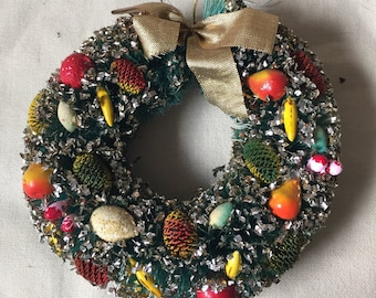 Bottle Brush Wreath with Original Box Made in Japan