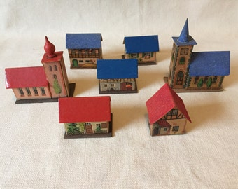 German Paper Christmas Village
