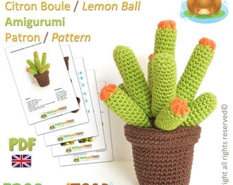 CACTUS - Lemon Ball - Amigurumi Crochet Pattern - British Terminology