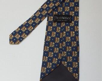 Buy2 get 2 free, Vintage Sz.CARLO Ties, Made in Italy, Silk ties, Artsy ties
