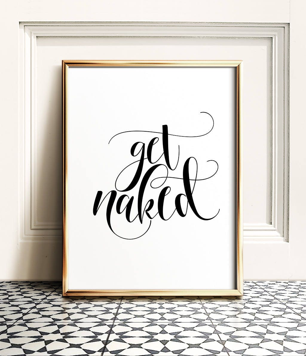 Free Printable Bathroom Pictures: Get Naked Sign PRINTABLE Art Bathroom Prints Get Naked