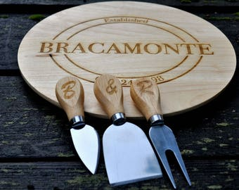 Personalized Cheese Board, Personalized Cutting Board Set, Custom Cheese Board, Cutting Board, Engraved Cheese Board, Custom cutting board