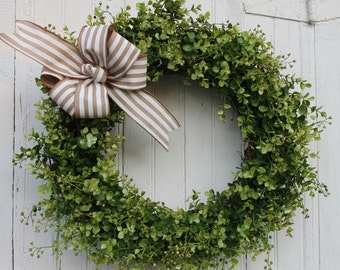 Boxwood Wreath, Front Door Wreath, Farmhouse Decor, Everyday Wreath, Outdoor Wreath, Natural Wreath, Year Round Wreath, Wedding Wreath