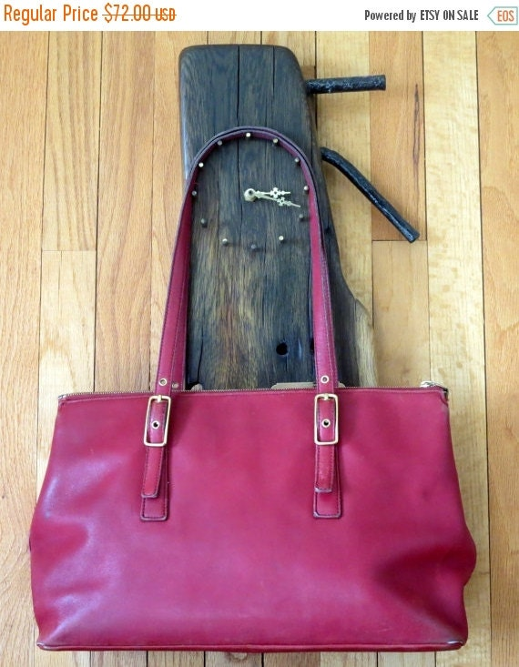 Football Days Sale Coach Legacy West Zip Red Leather Satchel Tote Shopper Carryall Style No. 9849