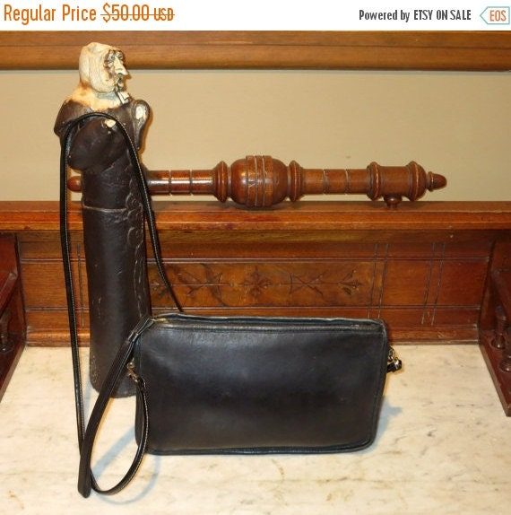 Football Days Sale Coach Basic Bag In Black Leather - Made In NYC- Substitute Strap