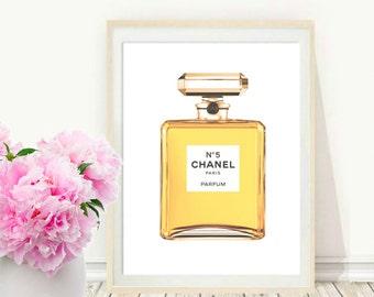 Chanel Wall Art, Coco Chanel perfume, Printable Art, Perfume bottle, Chanel Bottle, Art Digital, Fashion print, Digital download