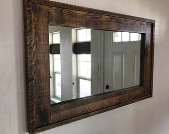 Beautiful Large Barnwood Mirror
