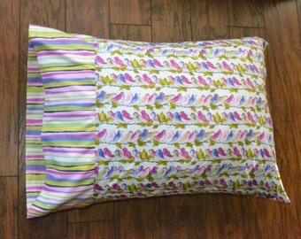 Bird life Pillowcase, Cotton pillowcases.