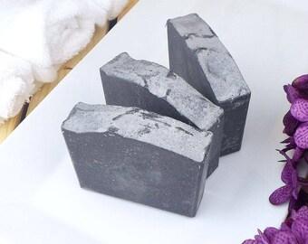 Activated Charcoal Soap - Tea Tree Soap - Essential Oil Soap - Natural Soap - Facial Bar Soap - Black Soap - Artisan Bar Soap - Clay Soap