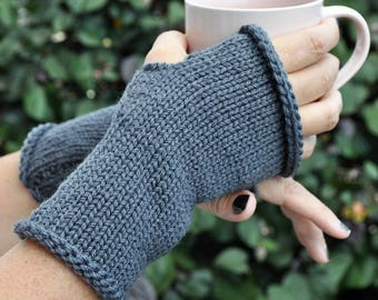 Knit fingerless gloves, Winter mitts, Texting gloves,Hand knit gloves, Womens mitts, Fingerless mittens,Handknit gloves,Merino gloves.